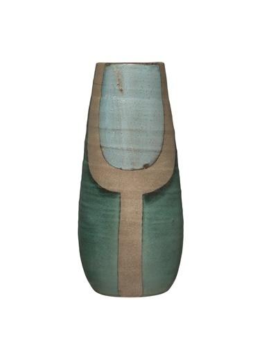 Warm Design Hand-Painted Terracotta Vazo Renkli